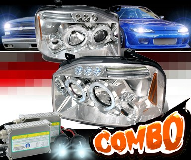 HID Xenon + SPEC-D® Halo LED Projector Headlights - 01-04 Nissan Frontier