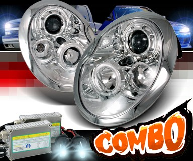 HID Xenon + SPEC-D® Halo LED Projector Headlights - 02-06 Mini Cooper