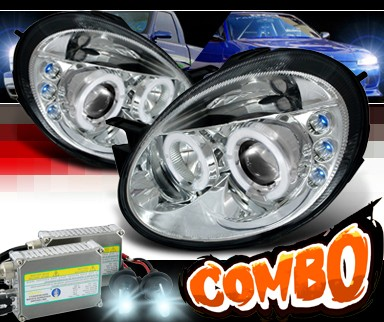 HID Xenon + SPEC-D® Halo LED Projector Headlights - 03-05 Dodge Neon (incl. SRT-4)