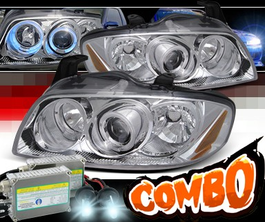 HID Xenon + SPEC-D® Halo LED Projector Headlights - 04-06 Nissan Sentra