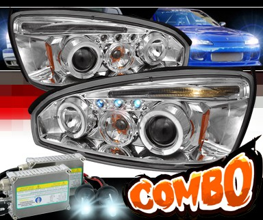 HID Xenon + SPEC-D® Halo LED Projector Headlights - 04-08 Chevy Malibu