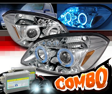 HID Xenon + SPEC-D® Halo LED Projector Headlights - 05-10 Chevy Cobalt