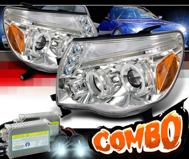 HID Xenon + SPEC-D® Halo LED Projector Headlights - 05-11 Toyota Tacoma