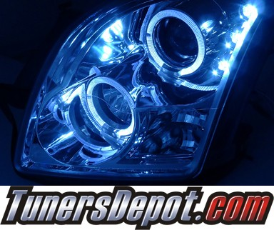 HID Xenon + SPEC-D® Halo LED Projector Headlights - 06-09 Ford Fusion