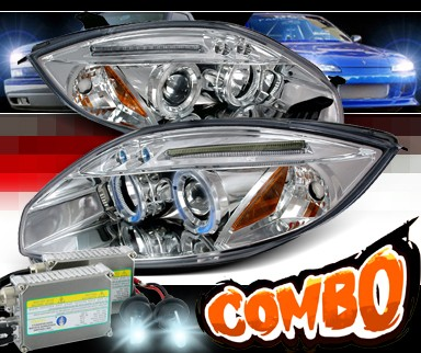 HID Xenon + SPEC-D® Halo LED Projector Headlights - 06-10 Mitsubishi Eclipse