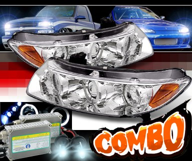 HID Xenon + SPEC-D® Halo LED Projector Headlights - 06-11 Honda Civic 2dr