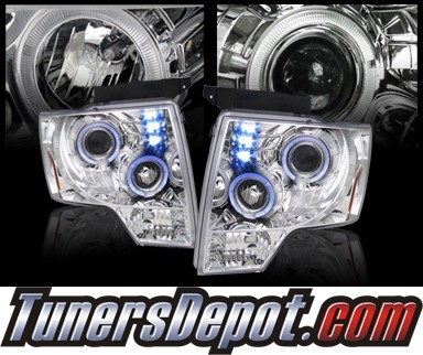 HID Xenon + SPEC-D® Halo LED Projector Headlights - 09-13 Ford F150 F-150