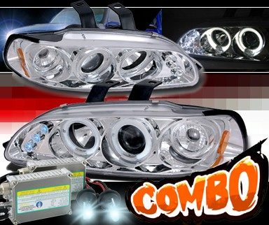 HID Xenon + SPEC-D® Halo LED Projector Headlights - 92-95 Honda Civic All (incl. EG Hatch)