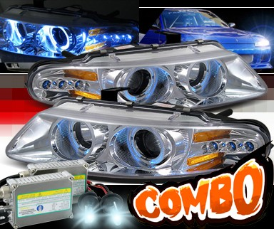 HID Xenon + SPEC-D® Halo LED Projector Headlights - 97-00 Chrysler Sebring 2dr
