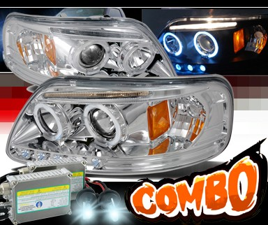 HID Xenon + SPEC-D® Halo LED Projector Headlights - 97-02 Ford Expedition