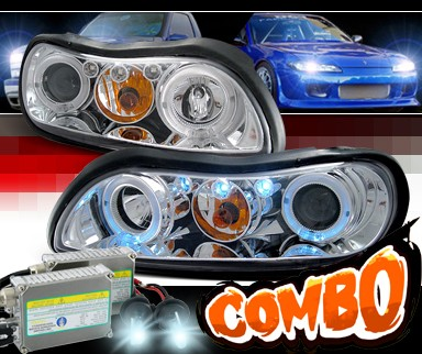 HID Xenon + SPEC-D® Halo LED Projector Headlights - 97-03 Chevy Malibu