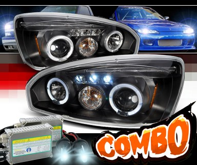 HID Xenon + SPEC-D® Halo LED Projector Headlights (Black) - 04-08 Chevy Malibu