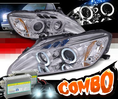 HID Xenon + SPEC-D® Halo LED Projector Headlights (Chrome) - 04-09 Honda S2000