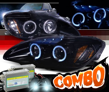 HID Xenon + SPEC-D® Halo LED Projector Headlights (Glossy Black) - 04-09 Honda S2000