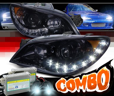 HID Xenon + SPEC-D® Halo LED Projector Headlights (Glossy Black) - 06-07 Subaru Impreza