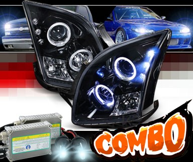 HID Xenon + SPEC-D® Halo LED Projector Headlights (Glossy Black) - 06-09 Ford Fusion