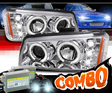HID Xenon + SPEC-D® Halo Projector Headlights - 03-06 Chevy Avalanche w/o Body Cladding