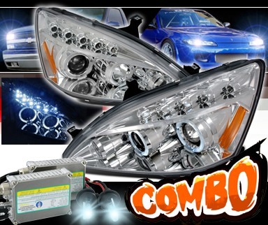 HID Xenon + SPEC-D® Halo Projector Headlights - 03-07 Honda Accord