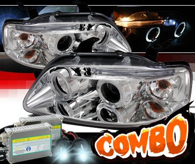 HID Xenon + SPEC-D® Halo Projector Headlights - 04-06 Chevy Aveo 4dr Sedan