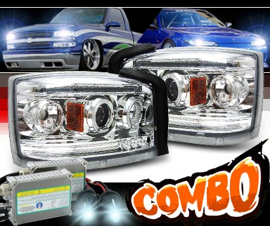 HID Xenon + SPEC-D® Halo Projector Headlights - 05-07 Dodge Dakota