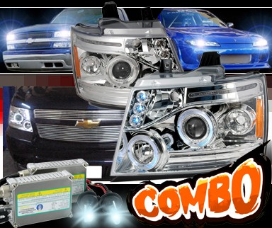 HID Xenon + SPEC-D® Halo Projector Headlights - 07-14 Chevy Avalanche