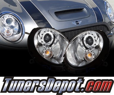 HID Xenon + SPEC-D® Halo Projector Headlights - 08-12 Mini Cooper Clubman 2dr/3dr
