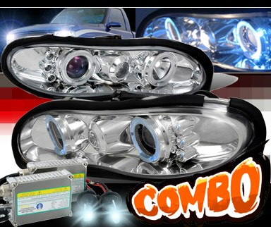 HID Xenon + SPEC-D® Halo Projector Headlights - 98-02 Chevy Camaro