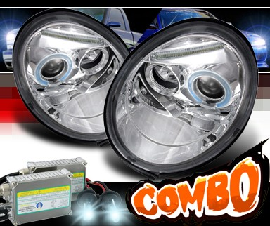 HID Xenon + SPEC-D® Halo Projector Headlights - 98-05 VW Beetle Volkswagen