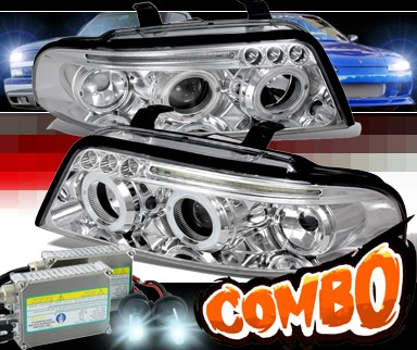 HID Xenon + SPEC-D® Halo Projector Headlights - 99-01 Audi A4 with 1 Piece Headlight