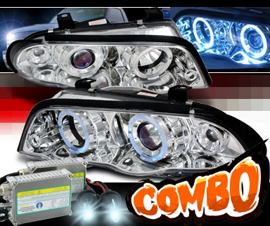 HID Xenon + SPEC-D® Halo Projector Headlights - 99-01 BMW 330i E46 4dr.
