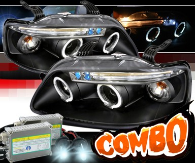 HID Xenon + SPEC-D® Halo Projector Headlights (Black) - 04-08 Chevy Aveo 5dr