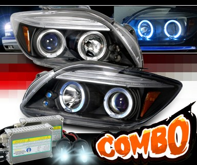 HID Xenon + SPEC-D® Halo Projector Headlights (Black) - 05-10 Toyota Scion tC (w/o stock projector headlights)
