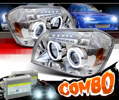HID Xenon + Sonar® CCFL Halo Projector Headlights - 05-08 Dodge Magnum