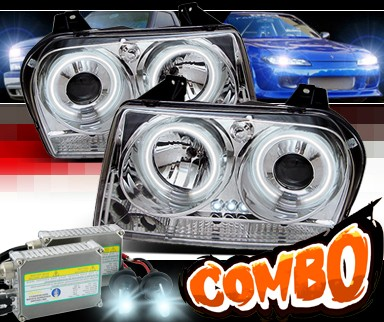 HID Xenon + Sonar® CCFL Halo Projector Headlights - 05-10 Chrysler 300
