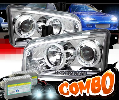 HID Xenon + Sonar® CCFL Halo Projector Headlights - 06-10 Dodge Charger