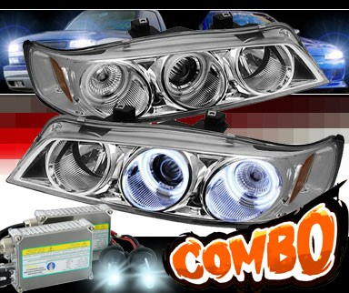 HID Xenon + Sonar® CCFL Halo Projector Headlights - 94-97 Honda Accord