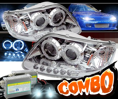 HID Xenon + Sonar® CCFL Halo Projector Headlights - 97-03 Ford F150 F-150