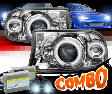 HID Xenon + Sonar® CCFL Halo Projector Headlights - 97-04 Dodge Dakota