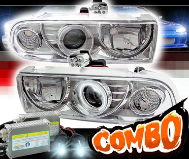HID Xenon + Sonar® CCFL Halo Projector Headlights - 98-04 Chevy S-10 S10
