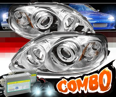 HID Xenon + Sonar® CCFL Halo Projector Headlights - 99-00 Honda Civic