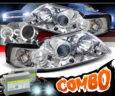 HID Xenon + Sonar® CCFL Halo Projector Headlights - 99-04 Ford Mustang
