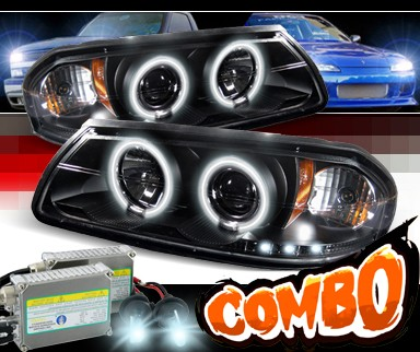 HID Xenon + Sonar® CCFL Halo Projector Headlights (Black) - 00-05 Chevy Impala