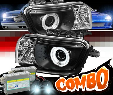 HID Xenon + Sonar® CCFL Halo Projector Headlights (Black) - 10-13 Chevy Camaro