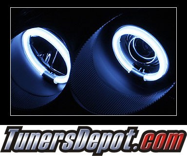 HID Xenon + Sonar® CCFL Halo Projector Headlights (Black) - 96-98 Honda Civic