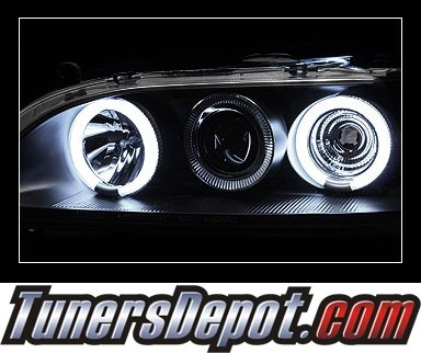 HID Xenon + Sonar® CCFL Halo Projector Headlights (Black) - 98-02 Honda Accord
