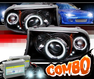 HID Xenon + Sonar® CCFL Halo Projector Headlights (Black) - 98-03 Dodge Durango