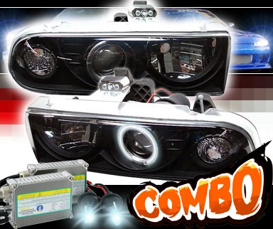 HID Xenon + Sonar® CCFL Halo Projector Headlights (Black) - 98-04 Chevy S-10 S10