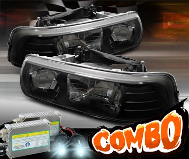 HID Xenon + Sonar® Crystal Headlights (Black) - 00-06 Chevy Suburban