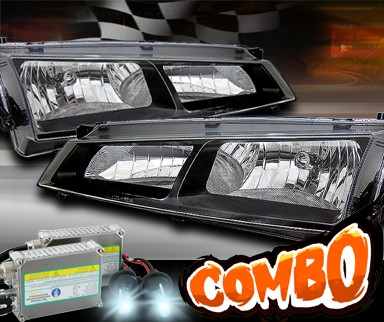 HID Xenon + Sonar® Crystal Headlights (Black) - 97-98 Nissan 240SX