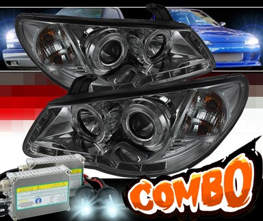 HID Xenon + Sonar® DRL LED Halo Projector Headlights (Smoke) - 07-10 Hyundai Elantra